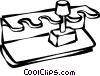 rubber stamp holder Vector Clip Art picture
