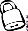Vector Clipart graphic  of a padlock