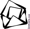 Vector Clipart picture  of a letters/envelopes