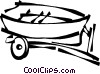 Vector Clip Art image  of a fishing boat on a trailer