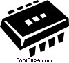 processor chips Vector Clip Art image