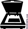 flatbed scanner Vector Clip Art picture