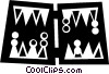 Vector Clip Art image  of a backgammon boards