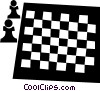 Vector Clip Art graphic  of a chess board
