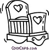 Vector Clip Art image  of a baby's crib