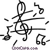 music notes Vector Clipart image