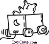 Vector Clipart image  of a toy wagon