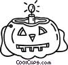 Vector Clip Art graphic  of a Halloween pumpkin