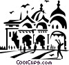 European building Vector Clip Art graphic