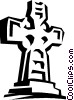 Vector Clip Art picture  of a statue