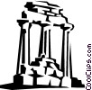 ancient structure Vector Clipart illustration
