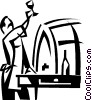 Vector Clip Art graphic  of a wine maker