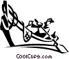rowboat Vector Clipart illustration