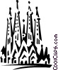 Vector Clip Art image  of a church