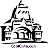 Vector Clip Art graphic  of a European building
