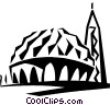 Vector Clipart illustration  of a Two Niles Mosque