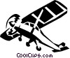 single engine plane Vector Clip Art picture