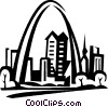 Gateway Arch, St. Louis Vector Clipart image