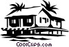 Vector Clip Art image  of a rural home