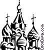Vector Clip Art picture  of a Russian buildings