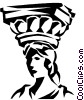 Vector Clip Art image  of a Roman column Forum of Augustus