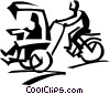 Vector Clip Art graphic  of a rickshaw