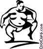 Vector Clip Art image  of a sumo wrestler
