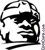Vector Clip Art graphic  of a statue