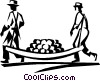 Vector Clip Art image  of a farmer