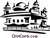 Vector Clip Art graphic  of a Golden Temple