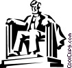 Vector Clip Art graphic  of a Lincoln memorial