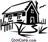 country home Vector Clipart picture