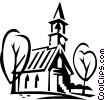 Vector Clipart graphic  of a small church