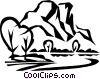 mountains Vector Clip Art graphic