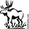 Vector Clipart image  of a moose