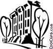 Vector Clipart illustration  of an apartment buildings