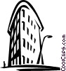 Vector Clip Art graphic  of a New York city building