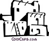 Vector Clip Art picture  of a ruins