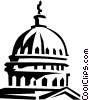 capitol building Vector Clipart graphic