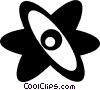 Vector Clipart image  of an atom symbol