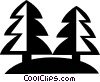 Vector Clip Art picture  of a trees