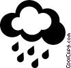Vector Clipart graphic  of a clouds with rain