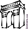 Vector Clipart illustration  of an Arc de Triomphe