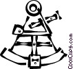 Vector Clip Art graphic  of a sextant