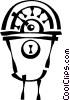 parking meter Vector Clipart graphic