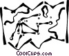 Vector Clipart image  of a map