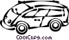 Vector Clipart illustration  of a van