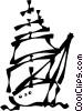 tall ships Vector Clip Art picture