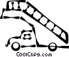 Vector Clip Art image  of a truck with stairs