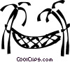 palm tree with a hammock Vector Clip Art image